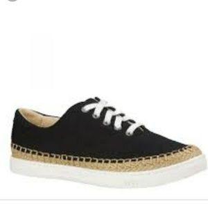 Ugg eyan II black canvas boat sneakers